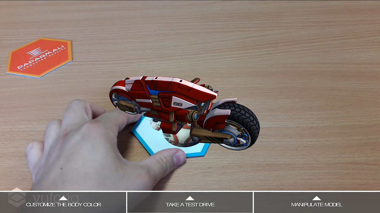 Augmented Reality Vespa User Interface Mimic No. 1
