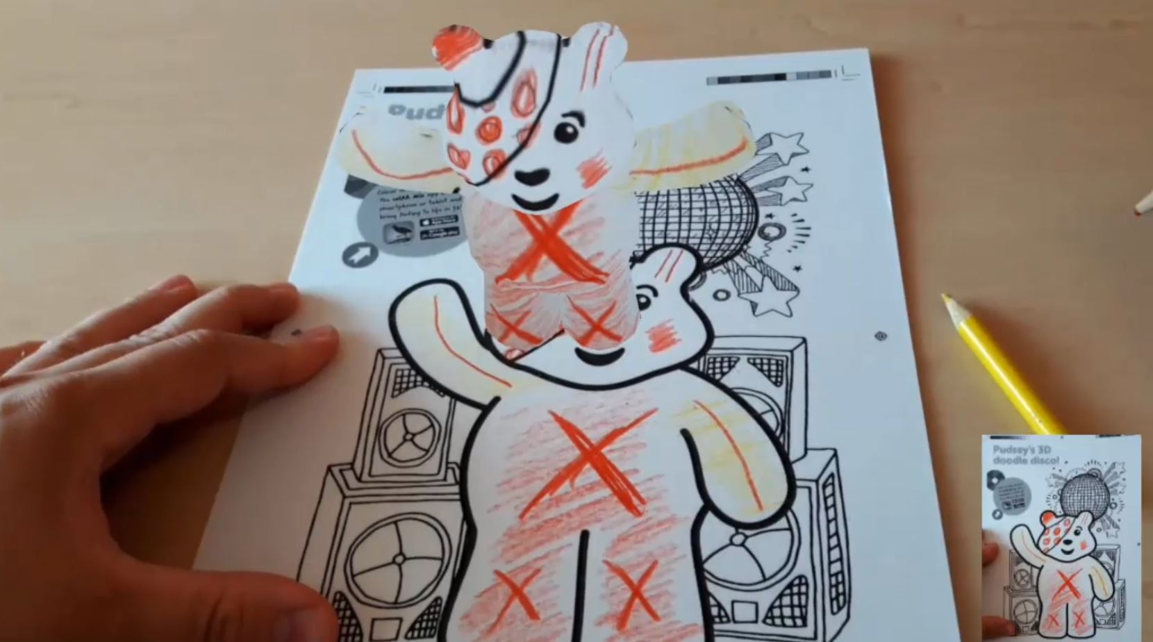 augmented reality coloring pages - demo augmented reality page coloring app mimicking