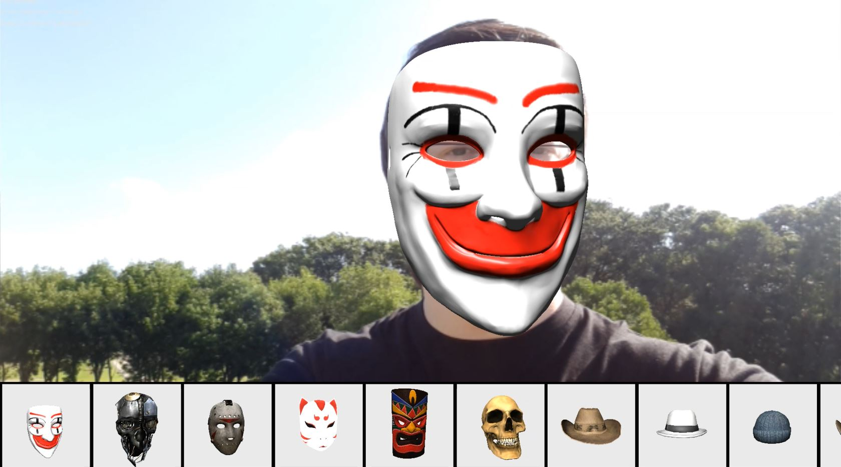 Demo] Augmented Reality Face Tracking using Mobile Devices - ART