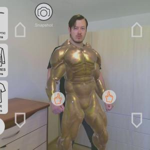 virtual fitting room smart mirror kinect 2 azure realsense nuitrack